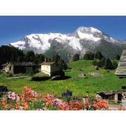 Montaña Nevada en los Alpes