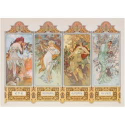 Alphonse Mucha: Las 4...