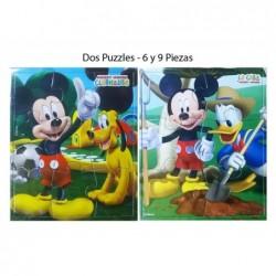 Primeros Puzzles:Mickey 4,6,9