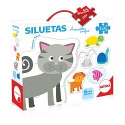 Siluetas: Animalitos Amigos