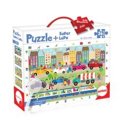 36pz. - Puzzle+Super Lupa:...