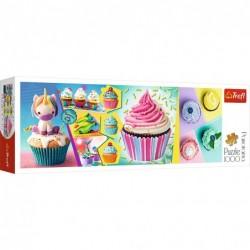 1000pz. - Cupcakes Coloridos
