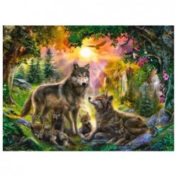 Familia de Lobos al Sol