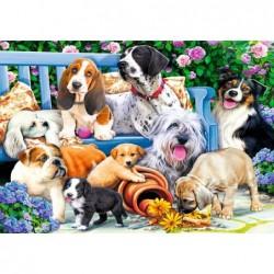 1000pz. - Perros en el Jardín