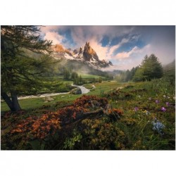 1000pz. - Valle en los Alpes