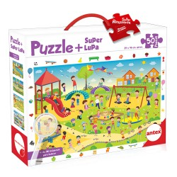 Puzzle + Superlupa - La Plaza