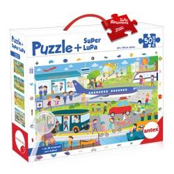 Puzzle + Superlupa -...