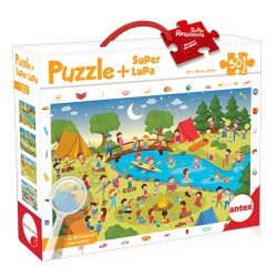Puzzle + Superlupa - Camping