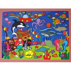 Puzzle De Piso - Fondo del Mar