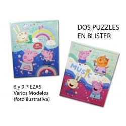 2 Puzzles Planos Peppa Pig