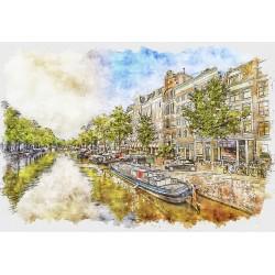 500pz. - Reflejos de Amsterdam