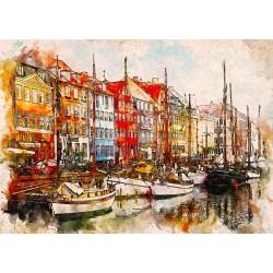 1000pz. - Barcos en Copenhague