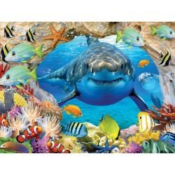 100pz. - 3D Puzzle: Tiburón...