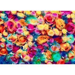 1000pz. - Rosas Multicolores