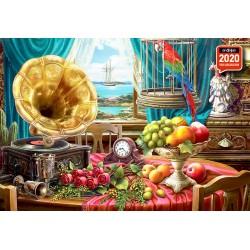 1000pz. - Gramofón y Frutas