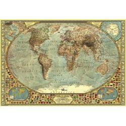 2000pz. - Mapa Estilo Antiguo