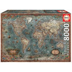 8000pz. - Mapamundi Histórico