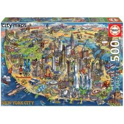 500pz. - Mapa de Nueva York