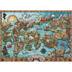 1000pz. - Mapa de la Atlántida